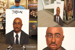 Tupac ( Suit ) artwork by Chovela S Art