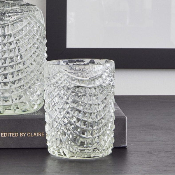 Kaawi Mouth Blown Glass Carafe & Tumbler Set