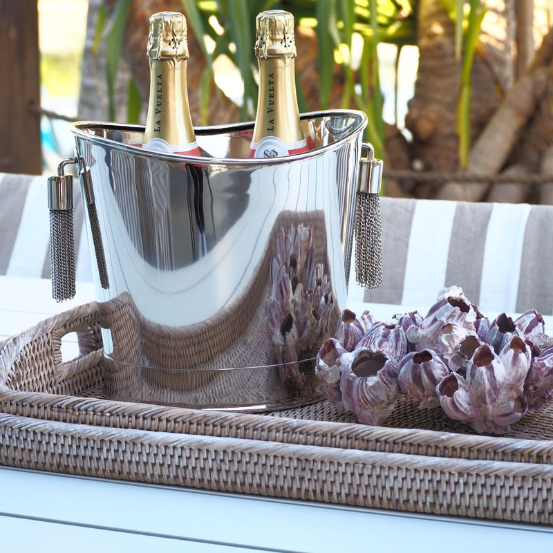 Tassel Champagne Bucket - Nickel