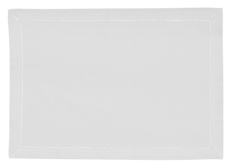 White Hemstitch Cotton Placemat