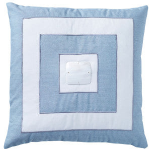Hamptons Sky Blue 'Mother of Pearl' - Luxe Range - Outdoor Cushion 50x50cm