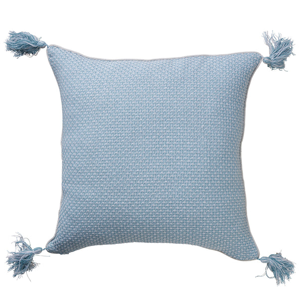 Tassels Coastal Jacquard Cushion 50x50cm