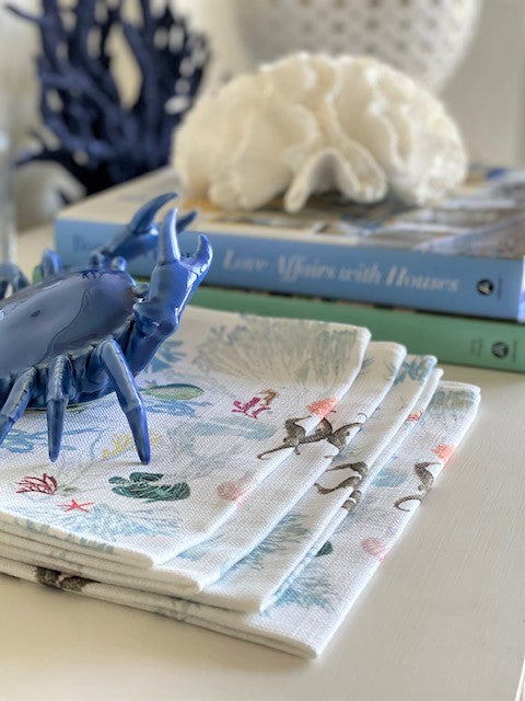 Sea Frolic - Linen Napkins Set of 2