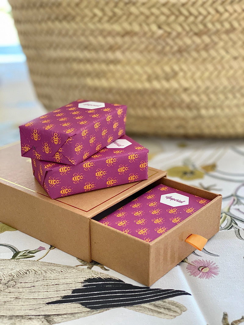 Imperial - Organic Beeswax & Argan Oil Soap - Box of 3