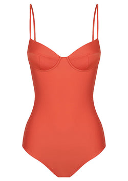 Clay Balconette One Piece Swimsuit