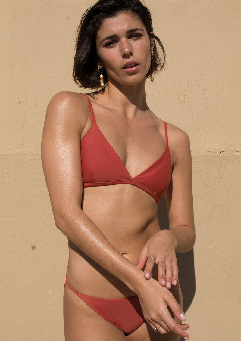 Clay Triangle Bikini Top