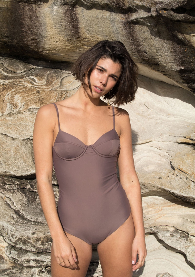 Cocoa Balconette One Piece Swimsuit