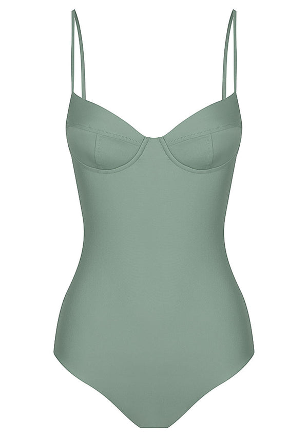 Sage Balconette One Piece Swimsuit