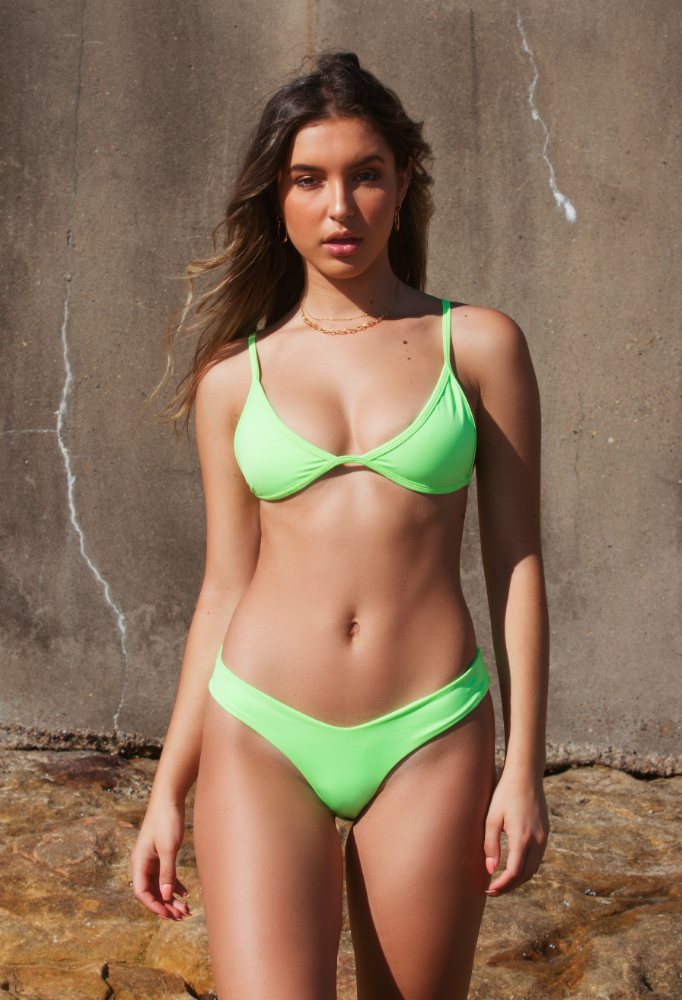 Cheeky Bikini Bottom | Neon Lime