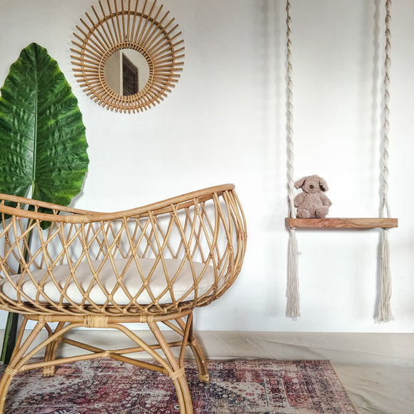 Rattan baby bassinet by Zao&Co