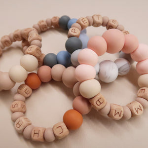 "Zao&Co ""Emma"" Personalized teething ring"