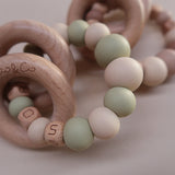 "Zao&Co ""Evie"" Personalised teething ring beige and lint"