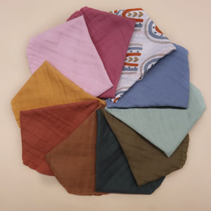 Bibs gauze double layer round