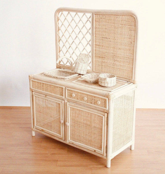 Zao&Co rattan play kitchen