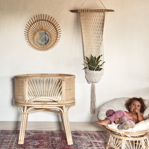 Sunrise rattan bassinet