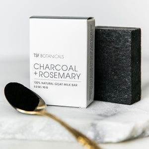 CHARCOAL + ROSEMARY ||  Normal + Acne-Prone 🖤   GOAT MILK FACE BAR || Olive Oil + Shea Butter