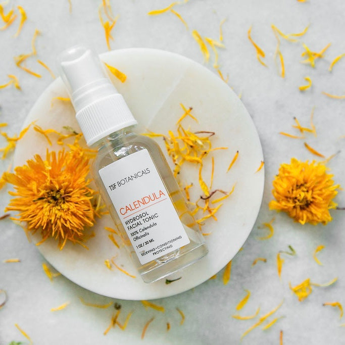 CALENDULA HYDROSOL 🧡 Tired skin needing to be calmed and rehydrated.