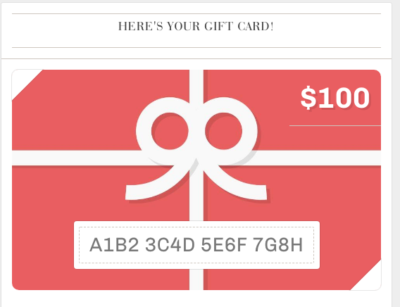 Your Gift Cards