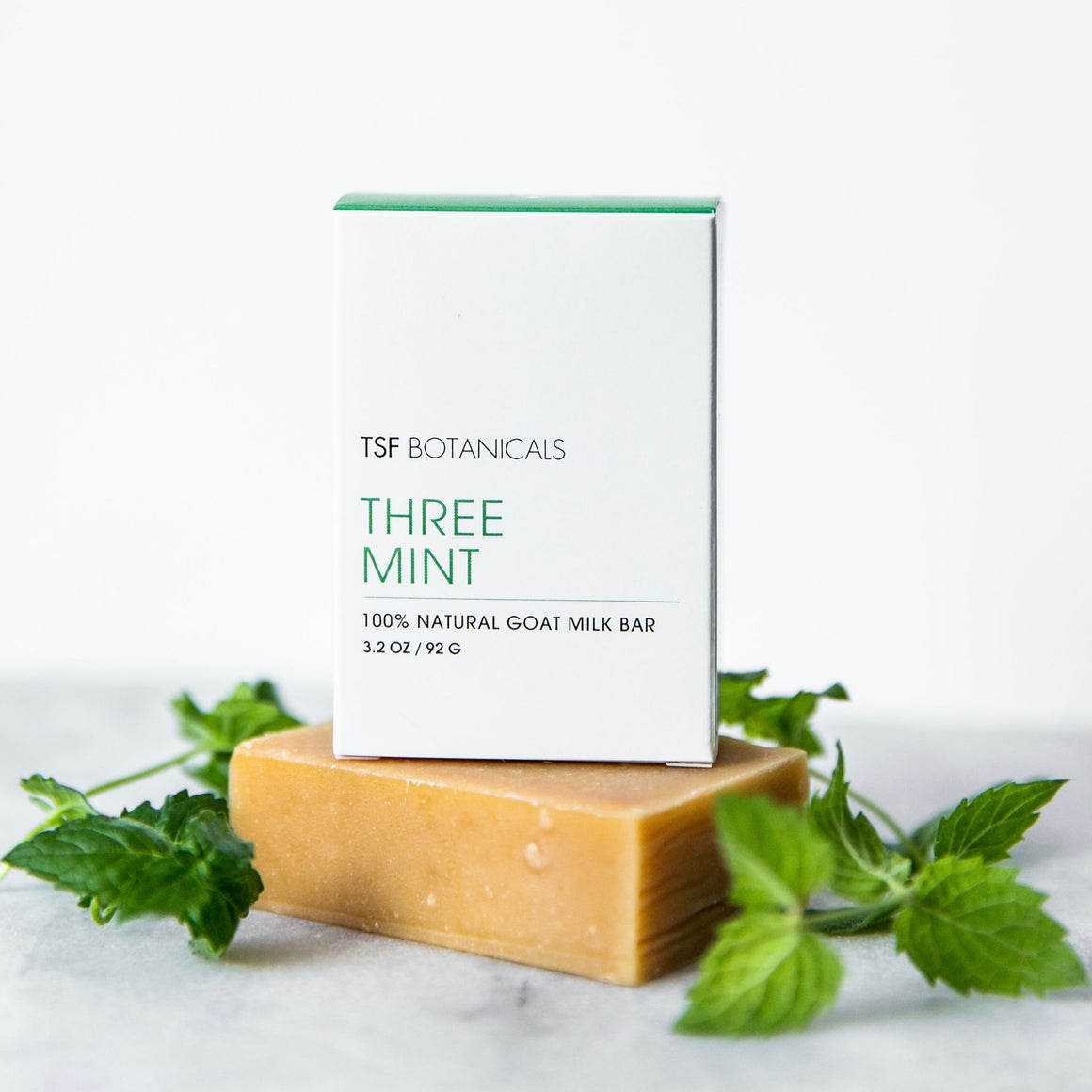 GOAT MILK FACE BAR CLEANSER 💚 Olive Oil + Shea Butter || Reviving Aroma of Three Kinds of Mint || Awakening + Rejuvenating | Men's Essential