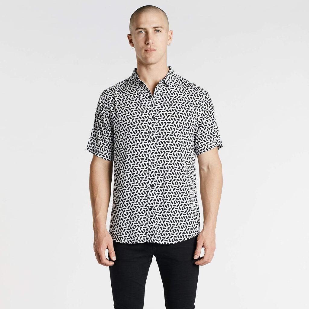 Atomic Standard Short Sleeve Shirt Black/White Print