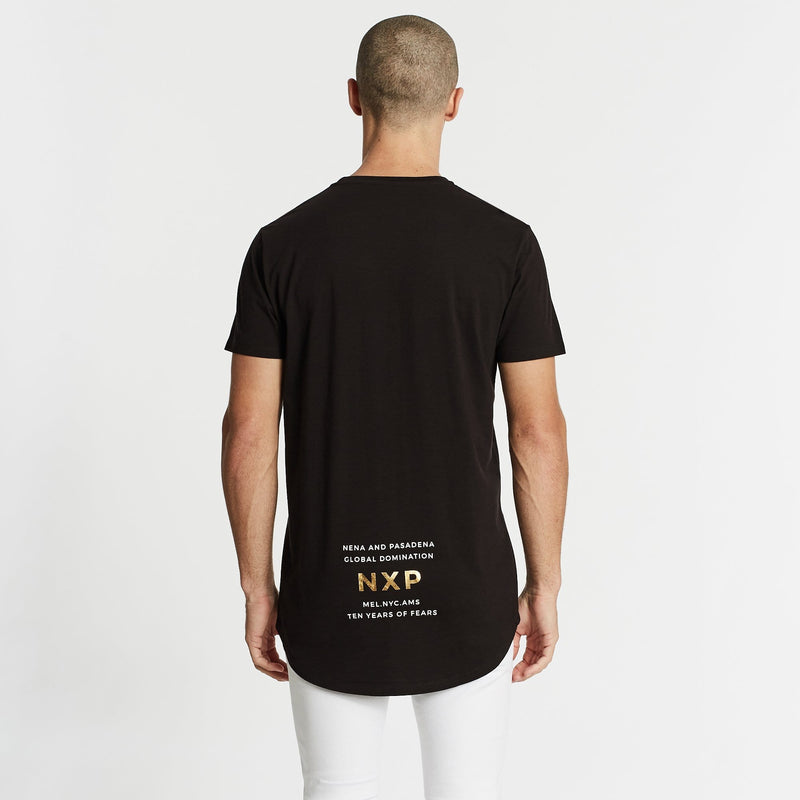 Can't Hold Us Cape Back T-Shirt Pigment Jet Black