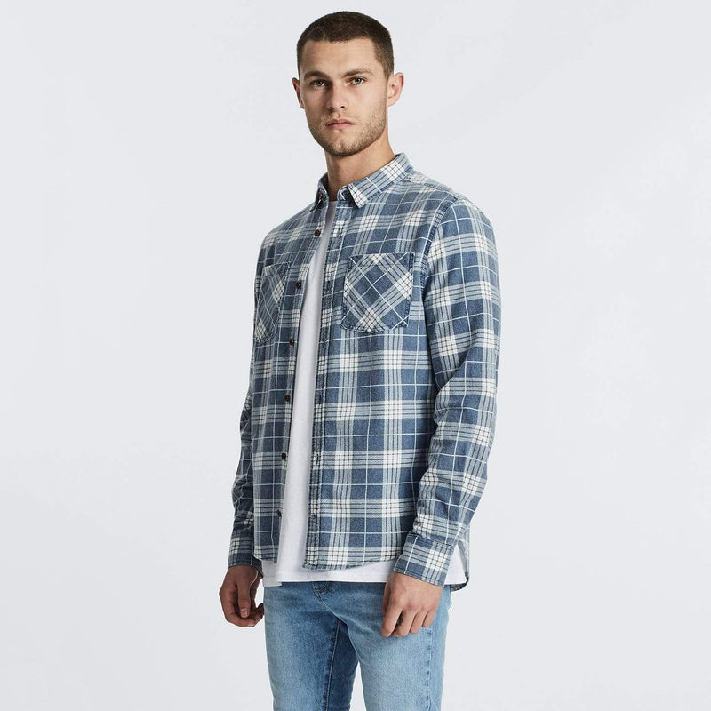 Charge Long Sleeve Shirt Blue Check