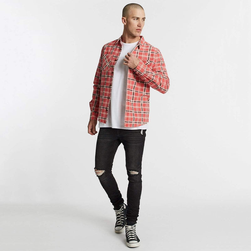 Charge Long Sleeve Shirt Red Check