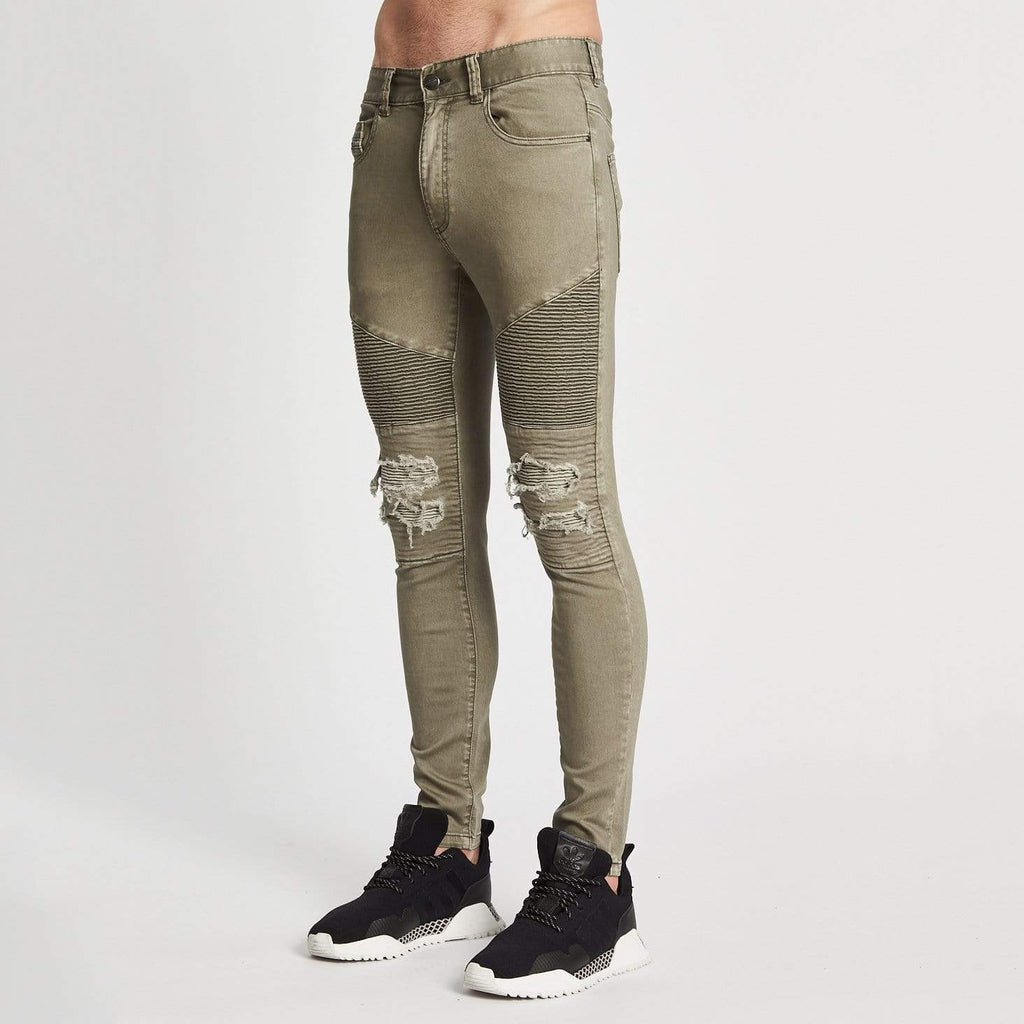 Combination Biker Jeans Freedom Khaki