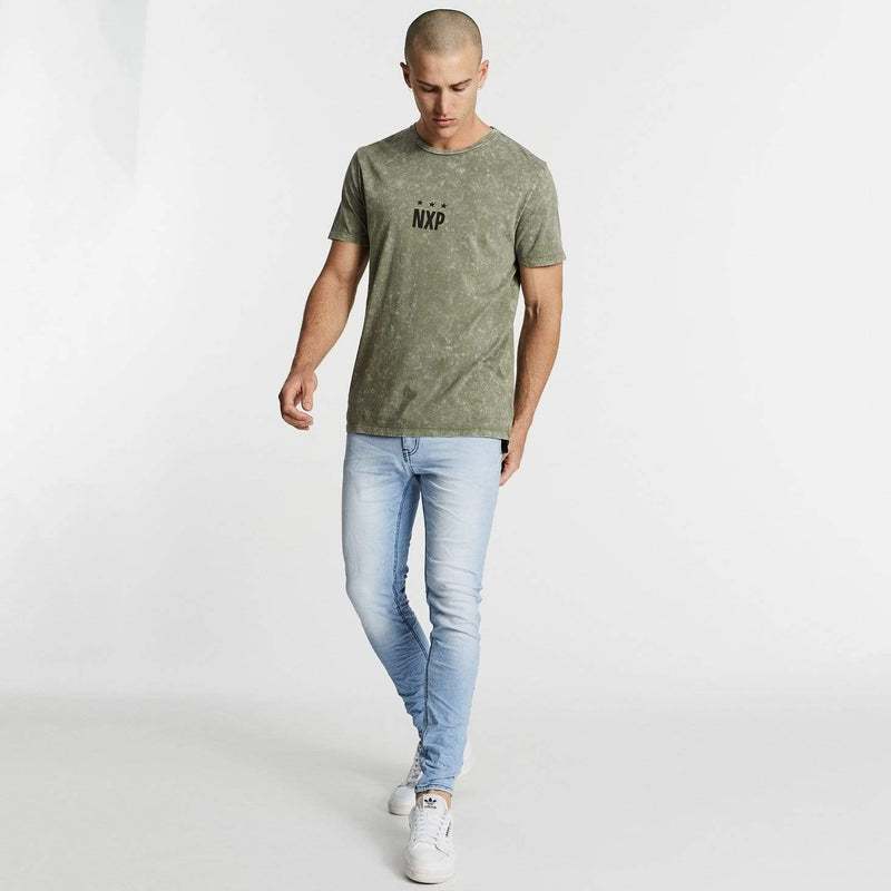 Darkest Days Scoop Back T-Shirt Acid Khaki