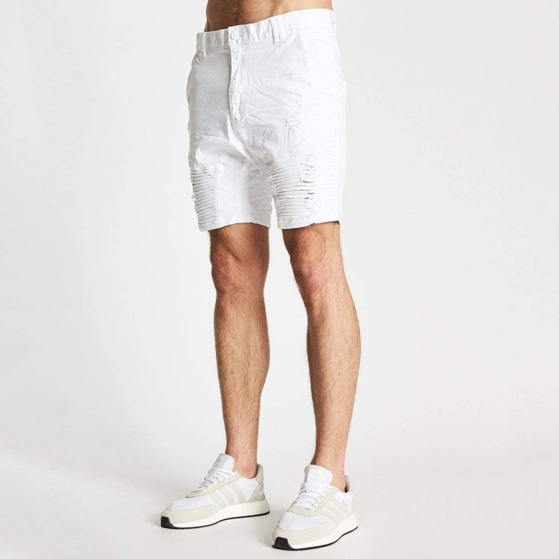 Destroyer Shorts White