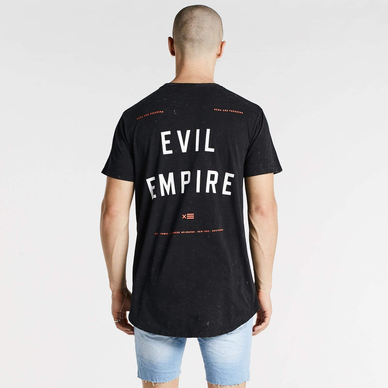 Evil Empire Cape Back T-Shirt Acid Black