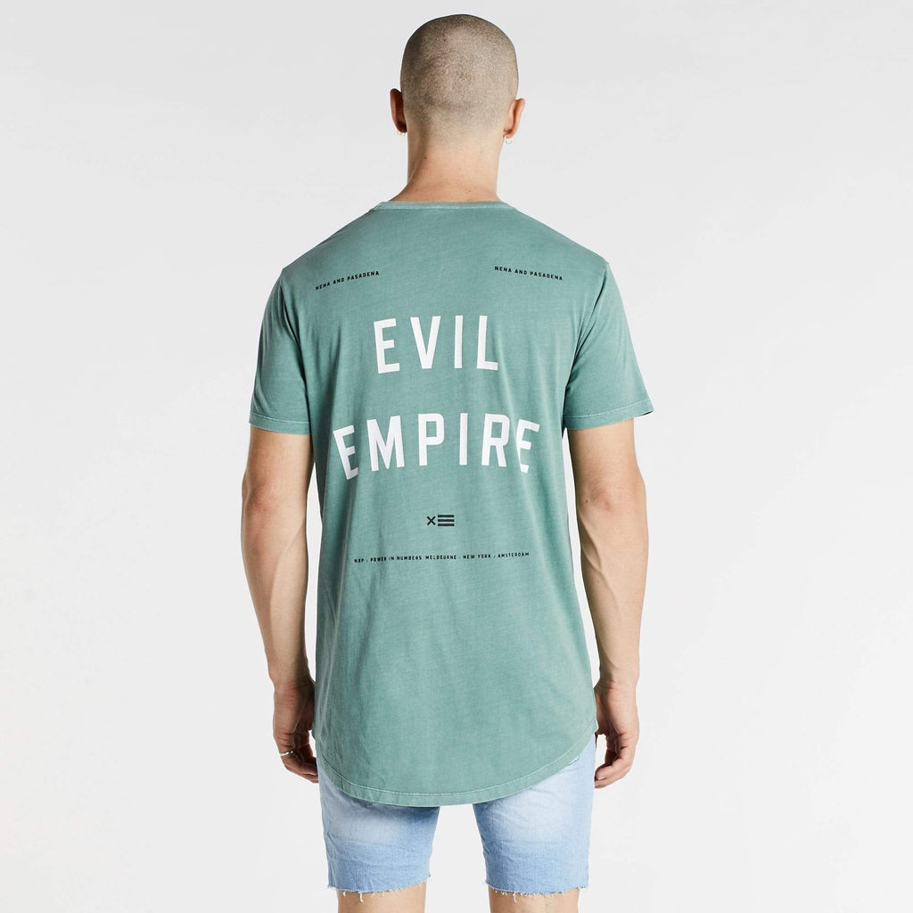 Evil Empire Cape Back T-Shirt Pigment Teal