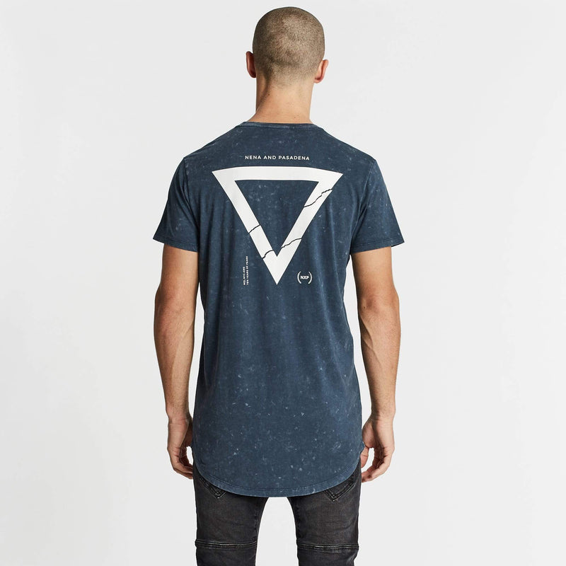 Feared Cape Back T-Shirt Acid Navy