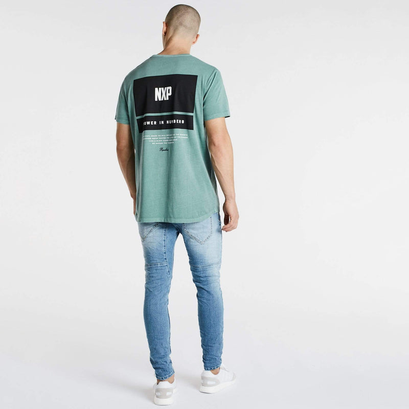 Final Hours Scoop Back T-Shirt Pigment Teal