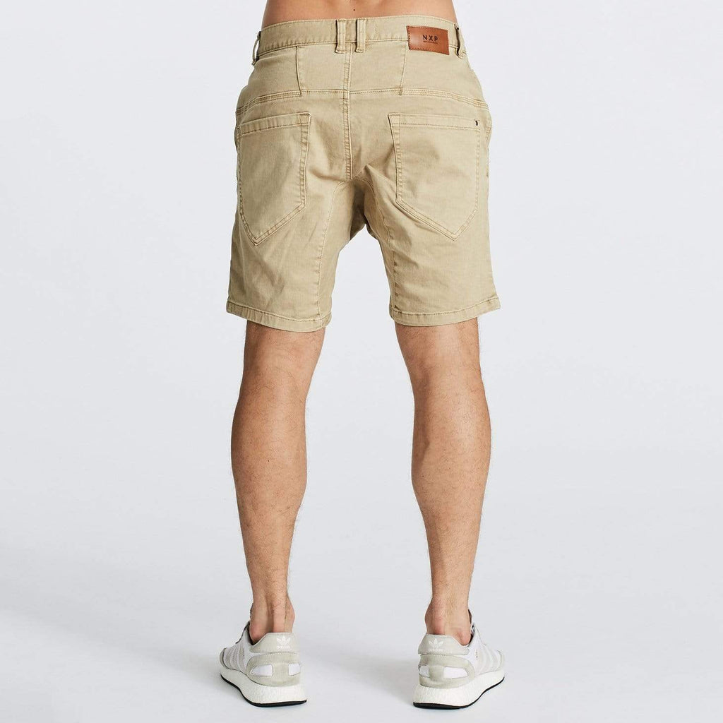 Flight Denim Shorts Oxford Tan