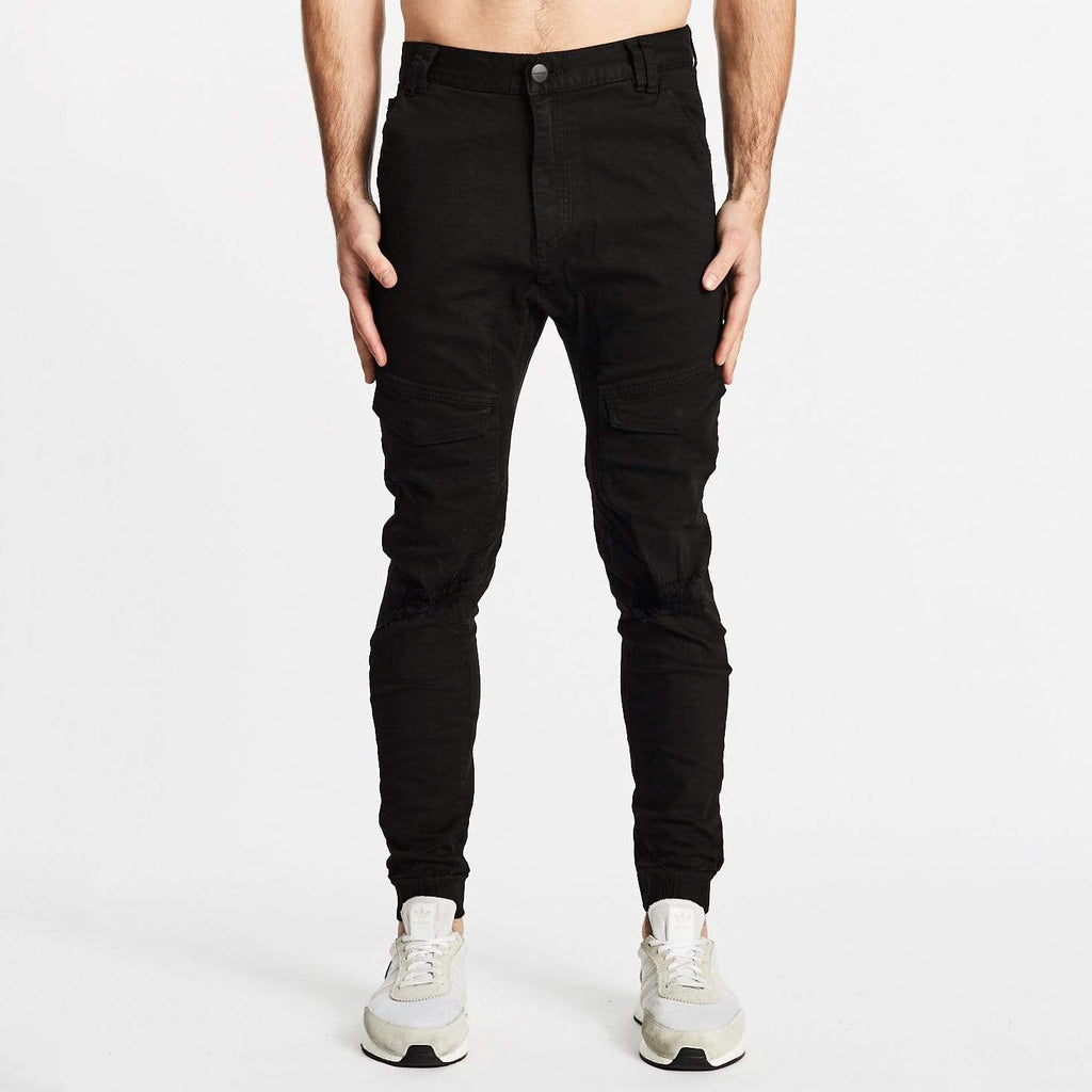 Flight Pants Destroyed Black