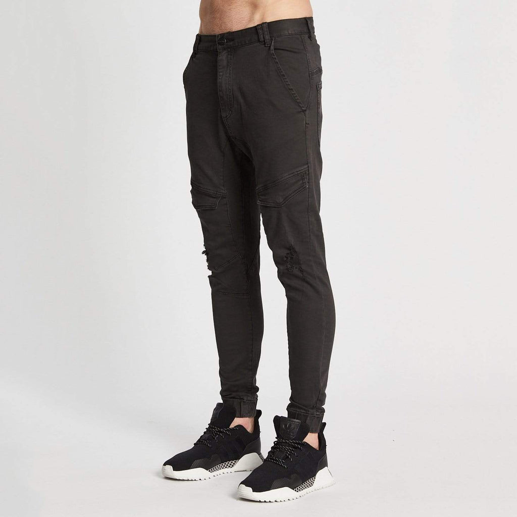 Flight Pants Washed Black
