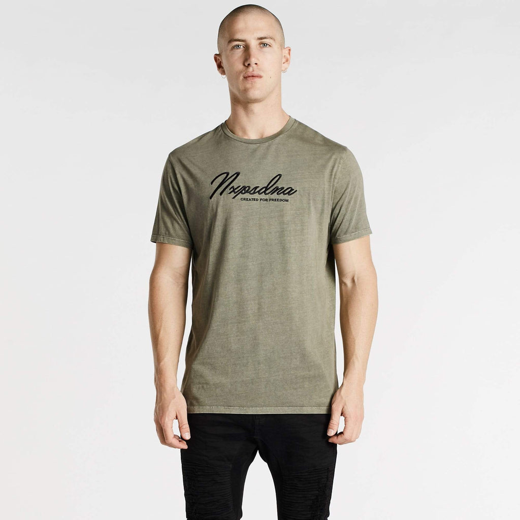 Freedom Scoop Back T-Shirt Pigment Khaki