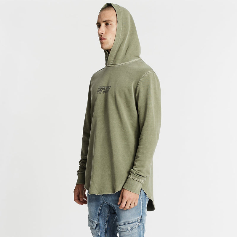Infamous Dual Curved Hoodie Pigment Khaki