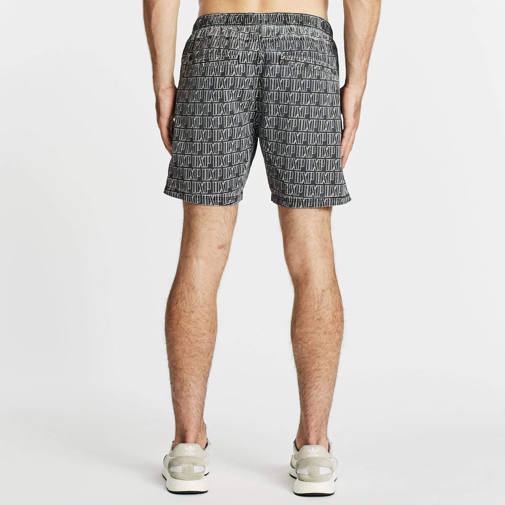 Lighter Elastic Waist Beach Short Black/White