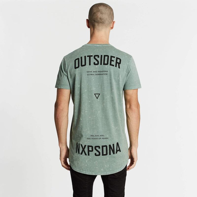 Outsider Cape Back T-Shirt Acid Teal