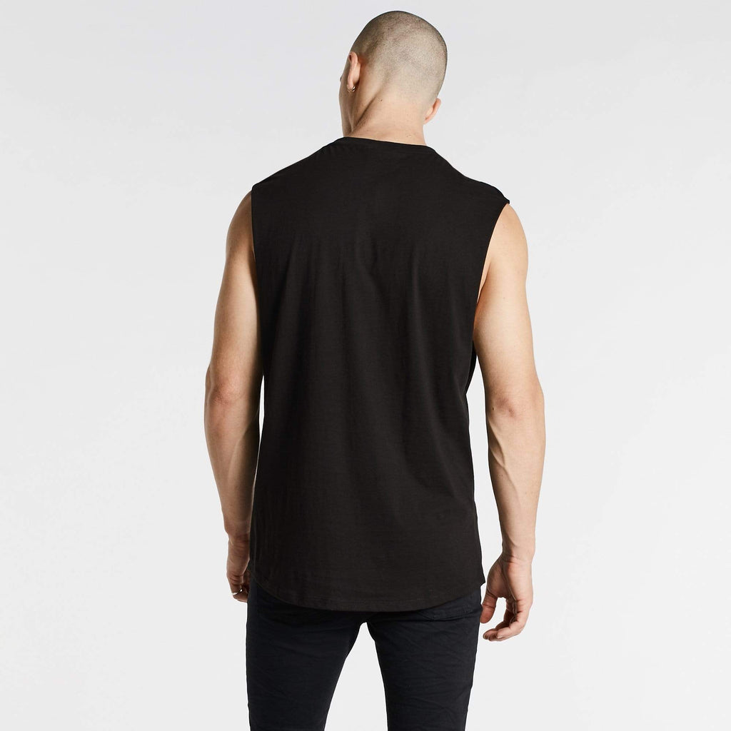 Oxides Scoop Back Muscle Tee Jet Black