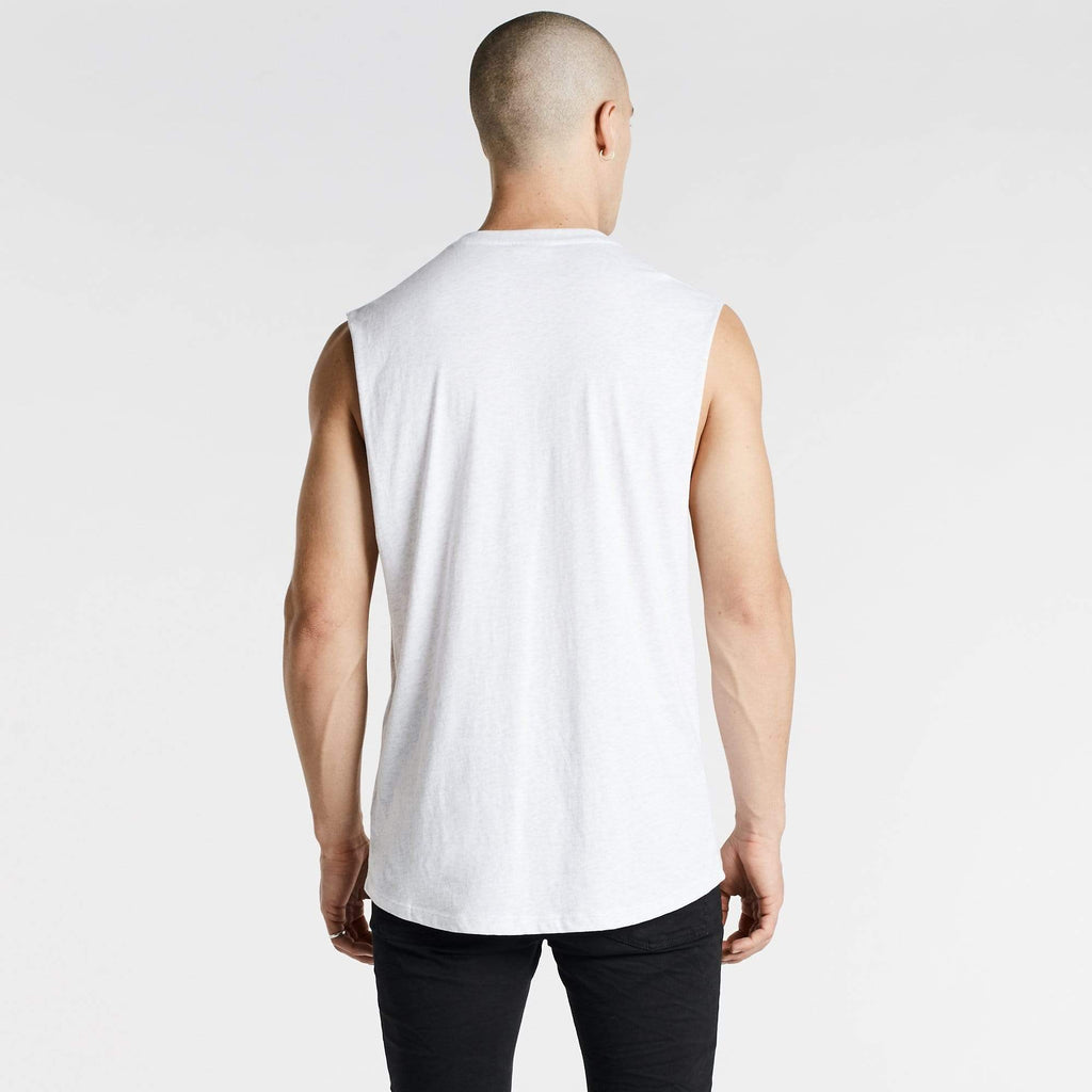 Oxides Scoop Back Muscle Tee Snow Marle