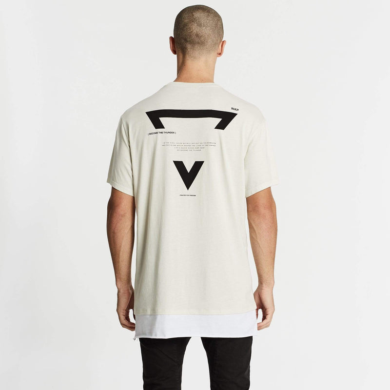 Pure Water Relaxed Layered T-Shirt Pigment Off White