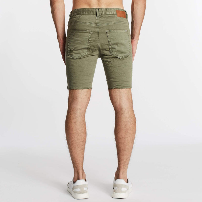 Rawlins Denim Short Destroyed Khaki