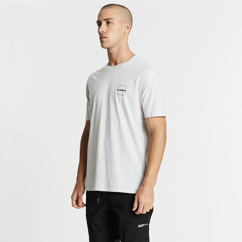 Rebellion Step Hem T-Shirt  Snow Marle