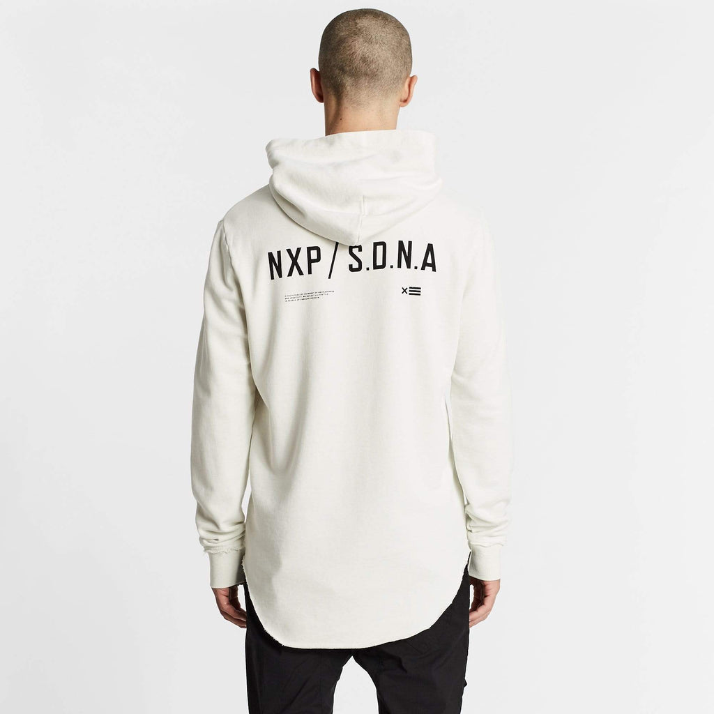 Reckless Dual Curved Hoodie Off White