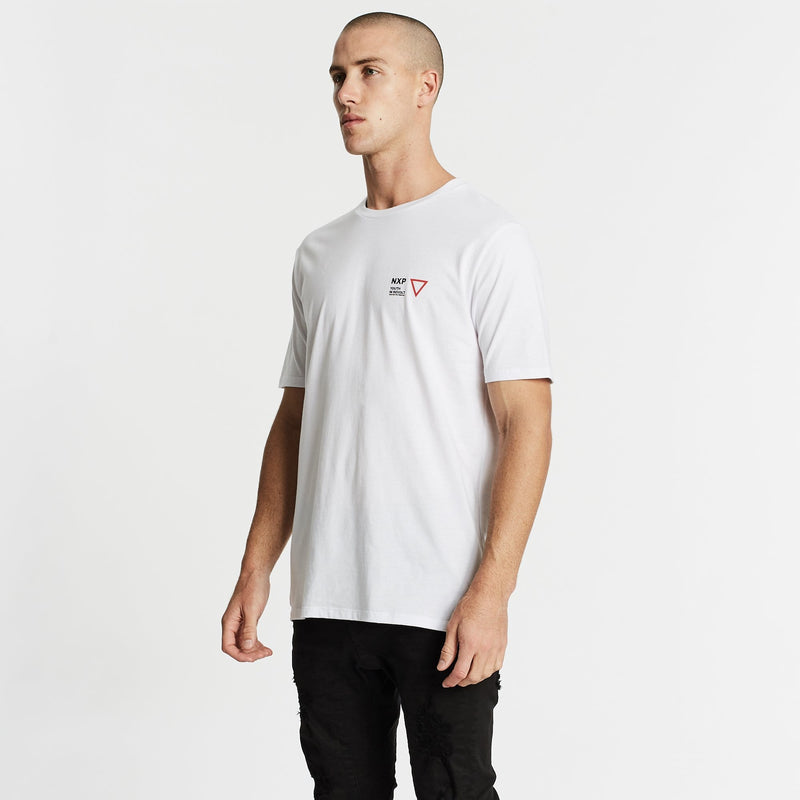 Revolution Step Hem T-Shirt White