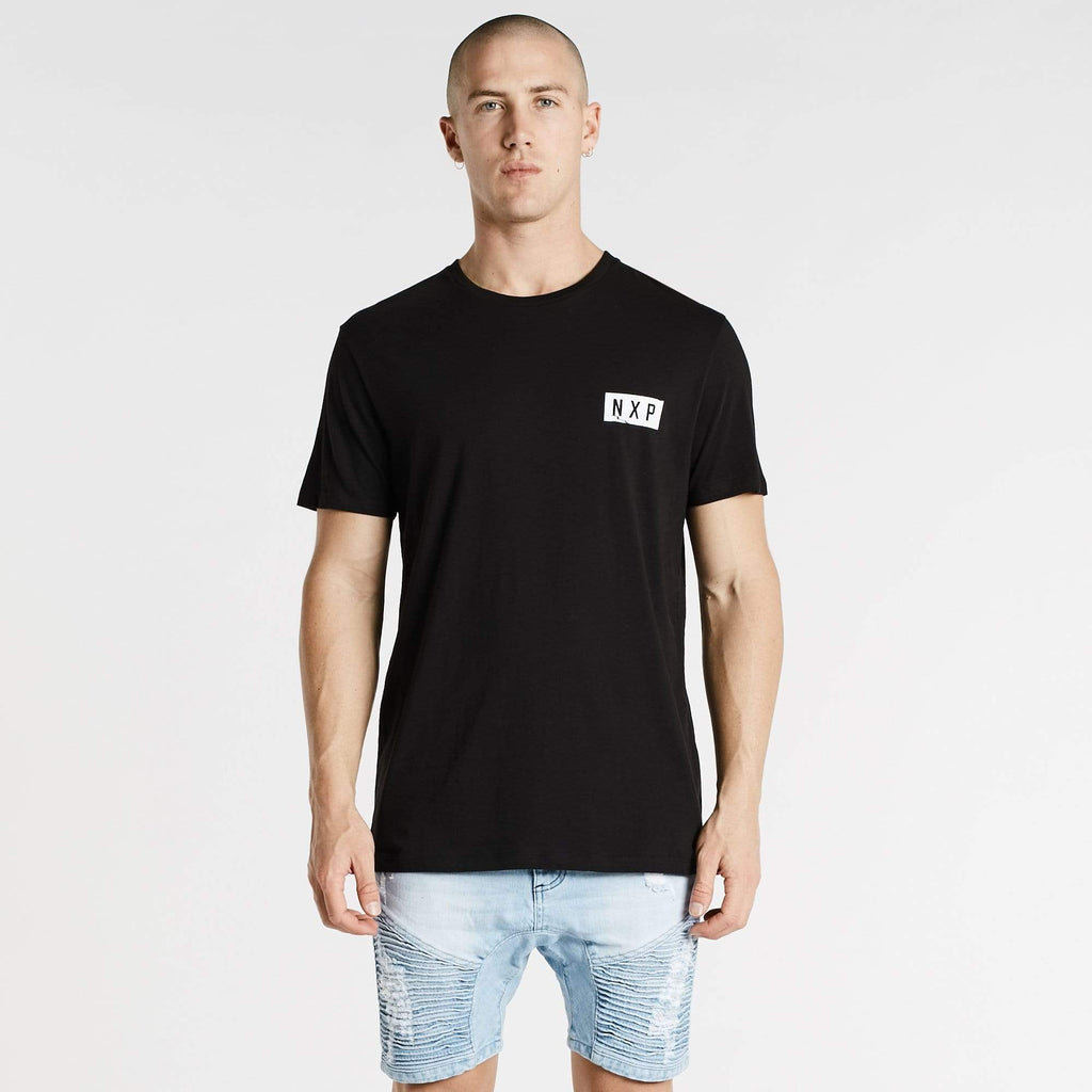 Rise Cape Back T-Shirt Jet Black