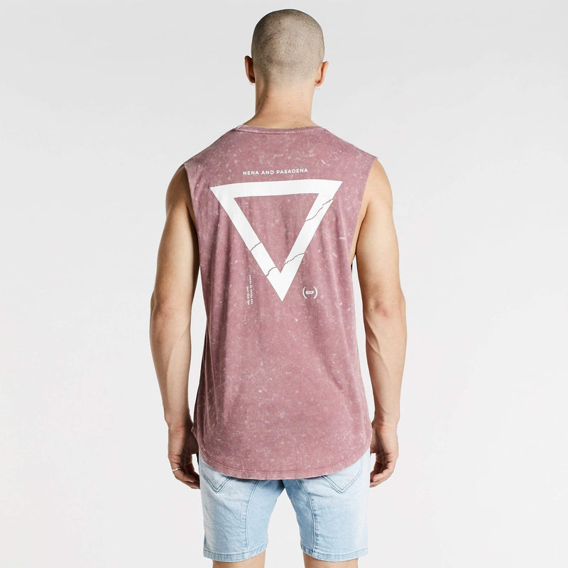 Ultimatium Scoop Back Muscle Tee Acid Burgundy